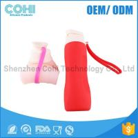 Silicone 750ML folding bottle use for go hiking