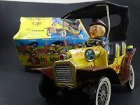 Wholesale 2 Vintage 1961 Hubley Mr Magoo Japan Tin Litho Battery Friction Car Toy Box Lot from china suppliers