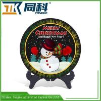 Buy cheap Handmade Chinese Traditional Folk Arts And Crafts Activated Carbon Carving Plate from wholesalers