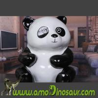 Wholesale Animal figurine Panda handcrafted from fiberglass for gifts from china suppliers