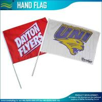 Custom Made Polyester promotion hand waving Stick flags