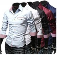 Wholesale 2017 foreign trade hot sell new casual men's fashion shirt cotton from china suppliers
