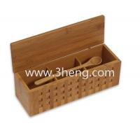 Wholesale Elegant bamboo box with 10-1/4-Inch Triple Scoop Box from china suppliers