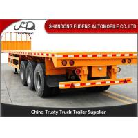 Three Axles Flatbed Equipment Trailers28 Tons Support Leg 40 Tons Load Capacity