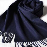 China Pure Cashmere Scarf Women Navy Blue HC3019 wholesale
