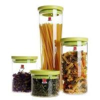 China Stackable Borosilicate Glass Food Storage Containers with Plastic Lid wholesale