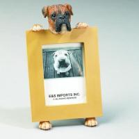Dog Picture Frame - Brindle Boxer Uncropped Ears, Small