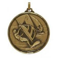 Wind Surfing Faceted Medal