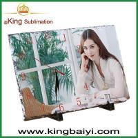Wholesale Sublimation blanks sublimation blank photo slate with clock from china suppliers