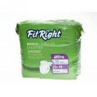 China Incontinence Supplies FitRight Ultra Adult Disposable Briefs Small 20-33 - 80 Count on sale