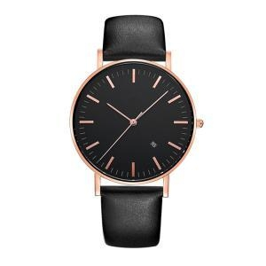 Quality Black Big Face Watch for Men Polish Watch for sale