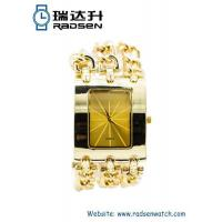 Wholesale Bangle Watches Cheap Gold Chain Women Watches with Big Face for Ladies from china suppliers