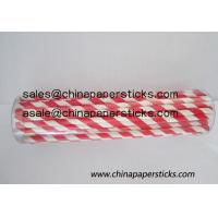 Wholesale red and white sriped paper straws from china suppliers