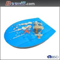 Beautiful high gloss decorated toilet seat