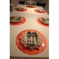 Wholesale red placemats and coasters Red Round Placemats from china suppliers