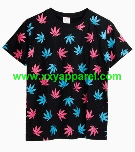 Maple leaves full size digital printed t shirts 90 for Full size t shirt printing
