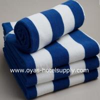 Blue and white striped towel