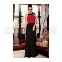 Black red sleeveless south korean chiffon mother of the bride dress & evening dress