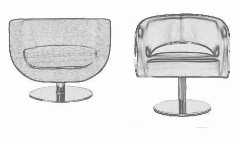 Stainless Falt Base Designed For Contempoary Sofa Chairs