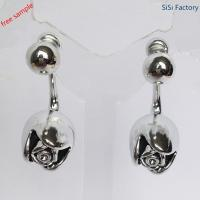 Wholesale special earring Silve rose shaped earring for lady from china suppliers