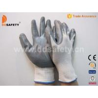 Wholesale White nylon with grey nitrile glove-DNN338 from china suppliers