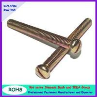 Wholesale slotted pan head machine screws from china suppliers