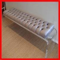 Wholesale solid custom hot bending lucite clear sofa bench base/leg from china suppliers