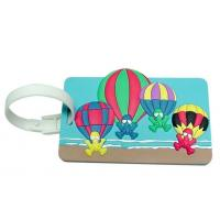 Wholesale P019 hot sale pvc hotel kids travel luggage tags from china suppliers