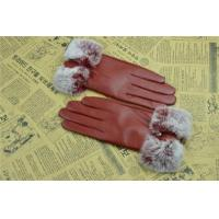 China Women winter leather gloves with Fur GY468 Women winter leather gloves with Fur GY468 wholesale