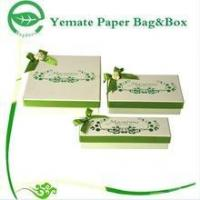 elegant eyecatching light green printed cardboard nested high quality gift box with silk bowknot