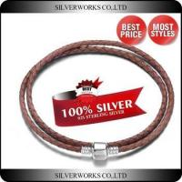 Wholesale Colored Double Wrap Leather Bracelet,925 Sterling Silver Braided Rope Bracelet from china suppliers