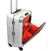 Wholesale alumnum frame suitcase easy access pocket abs pc luggage aluminum frame suitcase from china suppliers