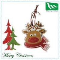 Wholesale DIY Cute Elk Christmas decoration paper tag from china suppliers