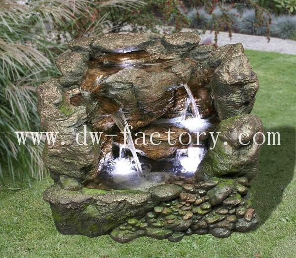 Classic stone grain 37 39 39 stacked stone river foutain for Bulk river rock for sale near me
