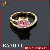 Wholesale Ring Imitation gemstone ring, pink diamond ring, cheap fake rings JOY FAN JEWELRY from china suppliers