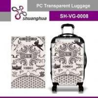 Wholesale summer holiday&travelling transparent pc customized suitcase from china suppliers