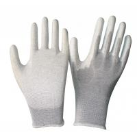 Wholesale ESD Carbon PU Coated Palm Fit Gloves from china suppliers