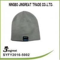 Wholesale Wholesale Lastest and Fashion Fabric knitted winter warm beanie hat blue tooth headset from china suppliers