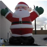 promotion giant outdoor Christmas inflatable santa for sale