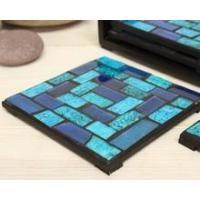 Wholesale Cheap price wholesale mosaic crackle glass coaster drink coasters for souvenirs from china suppliers