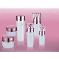 Wholesale hot red wholesale cosmetic containers and jars with white pumps and lids from china suppliers