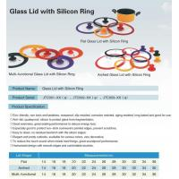Wholesale glass lid with silicone ring from china suppliers