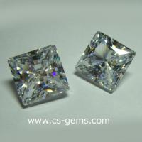 Wholesale Loose Cubic Zirconia CZ-30 Cubic Zirconia Square Princess Cut from china suppliers