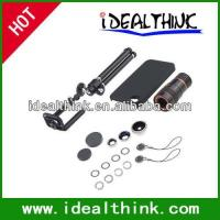 Wholesale Item  Travel Kit 4 in1 Lens Kit for iPhone 4/4S (10X Telephoto+Fish Eye+Wide Angle+Macro Lens) from china suppliers