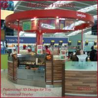 Marble counter top mall dish order food kiosk