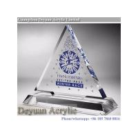 Wholesale Prismatice diffuser sheet Crystal Acrylic Trophy With Logo from china suppliers