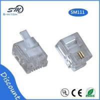 Wholesale RJ11 modular plug 6 pin 2 core telephone cable connector from china suppliers