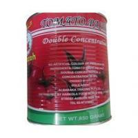 Wholesale canned tomato paste double concentrated tomato paste from china suppliers