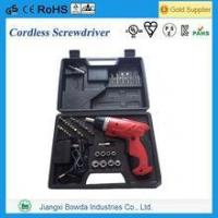 Wholesale 46pcs Cordless Screwdriver Combo Kit with Lithium Battery from china suppliers