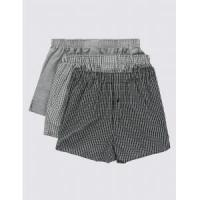 Wholesale Underwear Pure Cotton Easy to Iron Monochrome Grid Checked Boxers/Underwear from china suppliers